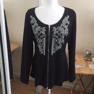 L Boston Proper Embellished Sweater A05 47